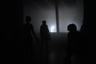 Fog Ballett by Tanja Brandmayr präsentiert von GfK OÖ im Central Linz, Performance von Gerlinde Roidinger © Reinhard Winkler